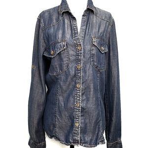 Anthropologie Cloth & Stone  Chambray Top …
